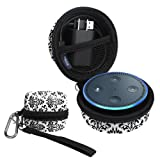 Fintie Protective Carrying Case for Amazon Echo Dot 2nd Generation - Shock Proof Eva Cover Zipper Portable Travel Bag Box (Fits USB Cable and Wall Charger) Versailles (SAAD035AD-US)