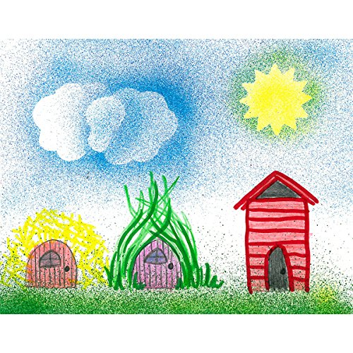 Faber-Castell - Blow Pen Stencil Art Kit - Premium Art Supplies For Kids