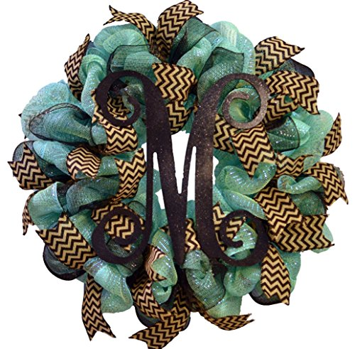 Vine Monogram Mesh Door Wreath - LOTS OF COLORS!!