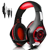 PS4 Gaming Headset|RedHoney Xbox One Headset|PC Gaming Headset|Xbox Gaming Headphones with Microphone for PS4 Xbox One PSP Netendo DS PC Tablet (red)