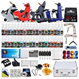 Dragonhawk Complete Tattoo Kit 4 Machine Guns Set Equipment Power Supply 40 Color Inks