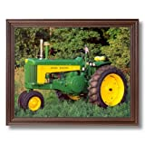 Vintage 1959 John Deere 730 Farm Tractor Wall Picture Cherry Framed Art Print