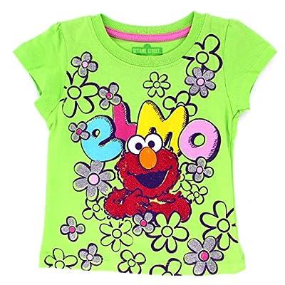 Sesame Street Elmo Toddler Girls Short Sleeve Tee