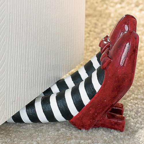 The Wizard of Oz Red Ruby Slippers Doorstop - Wicked Witch Collectible