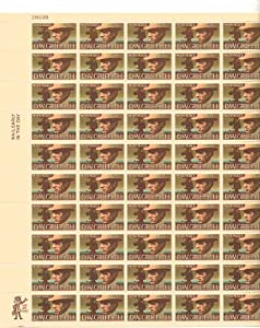 D.w. Griffith Full Sheet of 50 X 10 Cent Us Postage Stamps Scot #1555