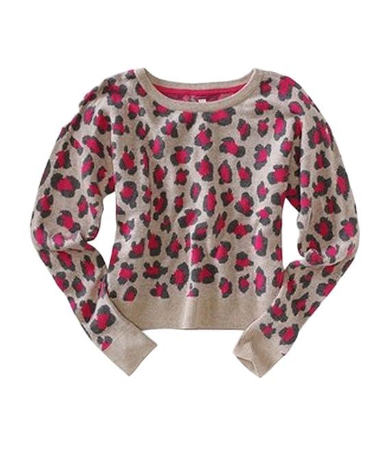 Aeropostale Womens Animal Print Knit Sweater