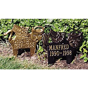 Angel Cat Memorial Marker Finish: Bronze and Gold