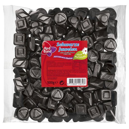 Red Band Schwarze Juwelen, Lakritz, Beutel, 500g