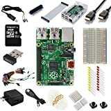 Raspberry Pi B+ Ultimate Starter Kit--(Includes over 40 components--Raspberry Pi B Plus + WiFi Dongle + 8GB Kingston Micros SD Card + Case + Power Supply and many more)