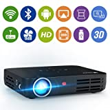 WOWOTO H8 Video Projector DLP LED Full HD 3D Support 1080P Android OS WiFi&Bluetooth 300