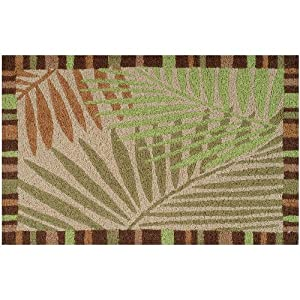 Amazon Jellybean Tropical Leaves Indoor Outdoor Rug