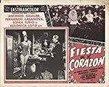 "Private: Fiesta en el corazon 1958 Authentic 11"" x 14"" Original Lobby Card Antonio Aguilar Musical"