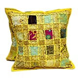 "Craft Store Cotton Hand Made Cusion,Cushion Cover Size-16"" 5cs Set - B00LL3WSVE"