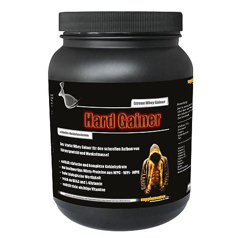 NEU! Hard Gainer Vanille 1000g Dose - Wettkampfprotein Extreme Whey Gainer Kohlenhydrate Eiweiß Masse und extremer Muskelaufbau