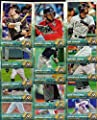 Miami Marlins 2015 Topps MLB Baseball Regular Issue Complete Mint 19 Card Team Set with Giancarlo Stanton, Jose Fernandez Plus
