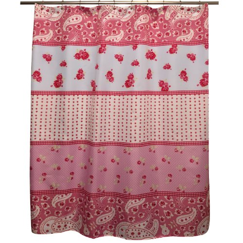 Famous Home Shabby Chic Shower Curtain, Rose by Famous Home Fashions