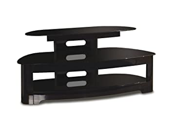 TechCraft 50-Inch Flat Panel TV Stand with Angled Back, Black (Discontinued by Manufacturer)