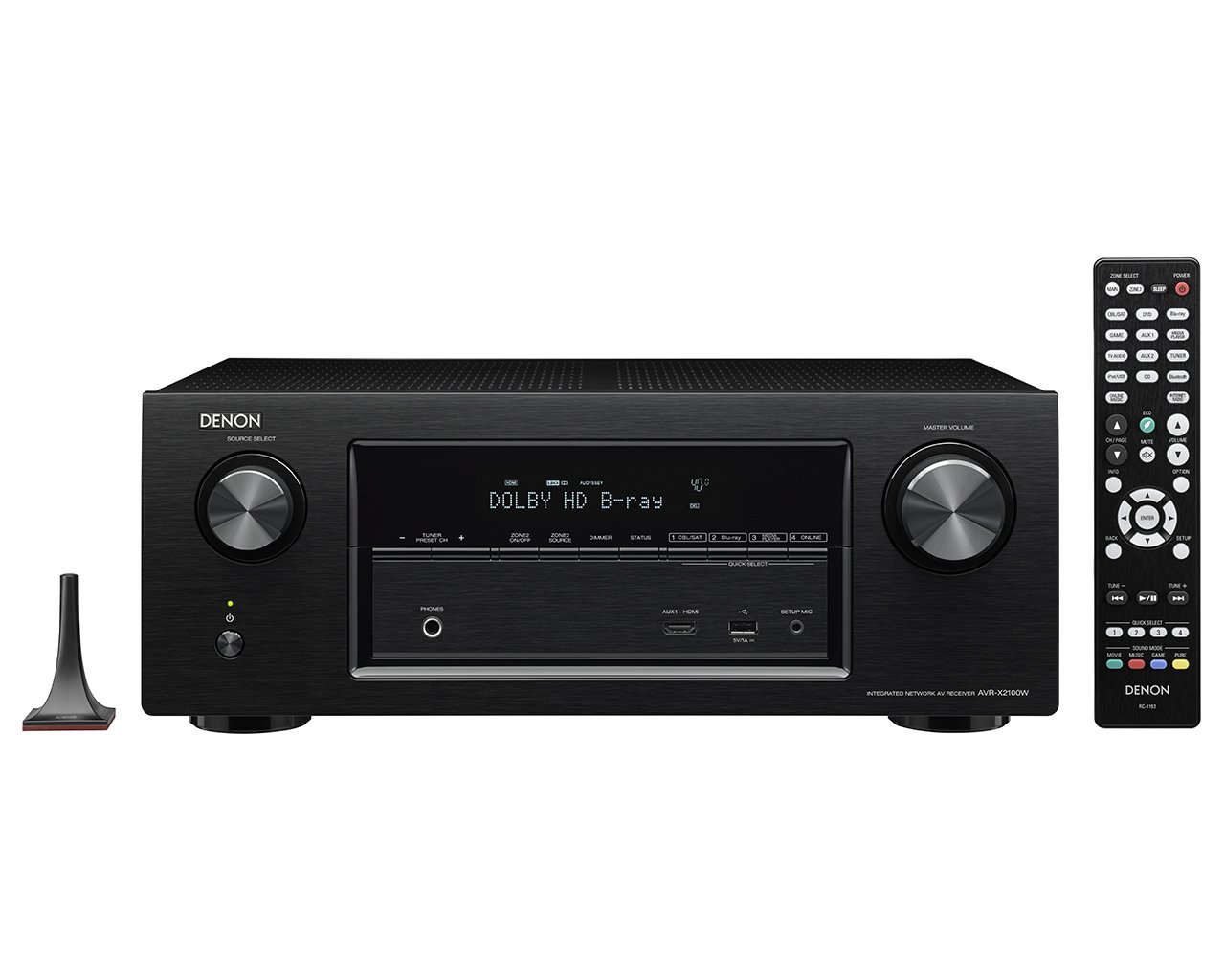 Denon AVR-X2100W 7.2 Channel Full 4K Ultra HD A/V Receiver with Bluetooth and Wi-Fi (Discontinued by Manufacturer)