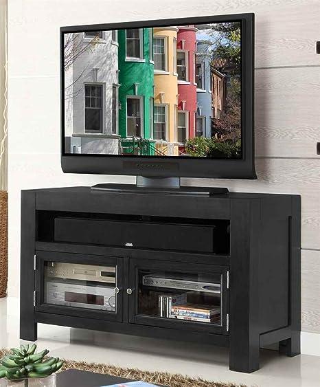 48 in. TV Cabinet in Gunmetal Gray Finish