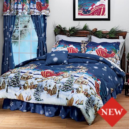 Christmas-Themed-Santa-Claus-Queen-Size-Comforter-Set-8-Piece-Bed-In-A-Bag-HOMEMADE-WAX-MELT