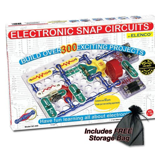 Electronic Snap Circuits - 300 With Free Storage Bag