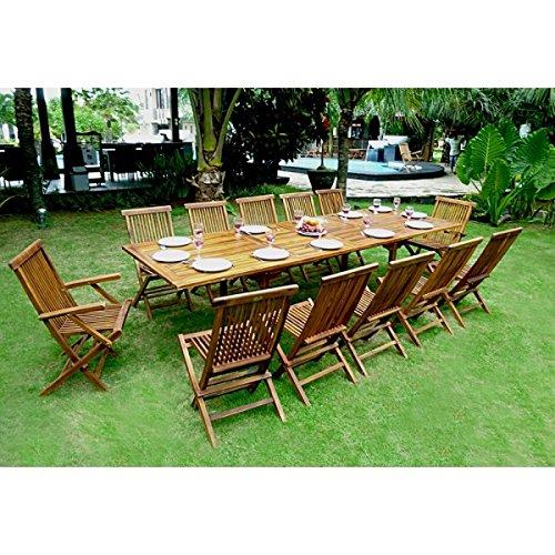 Gartenmöbel-Set/Sitzgruppe Teakholz Tisch, groß, 300 cm günstig online kaufen