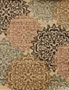 New City Brand New Contemporary Brown and Beige Modern Floral
