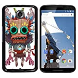 Smartphone Protective Case Hard Shell Cover for Cellphone Motorola NEXUS 6 X Moto X Pro CECELL Phone case Monster Native Witch Voodoo Doll Skull