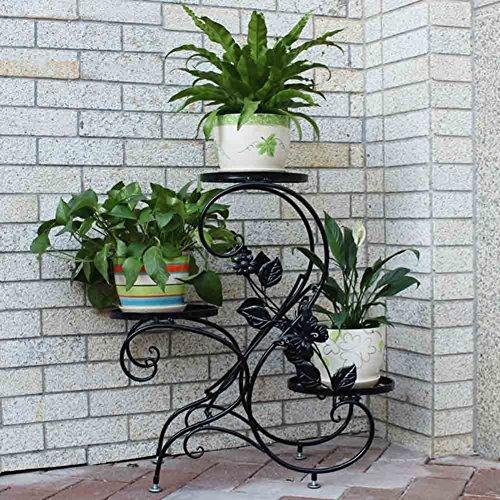 Hlc bastidor para macetas soporte met lica para hierbas for Plantas decorativas amazon