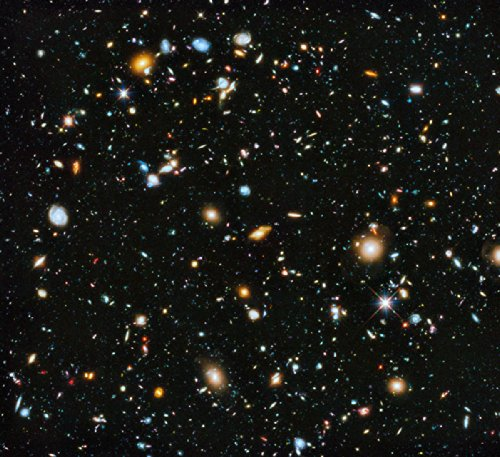 "Hubble Ultra Deep Field 2014 - 24"" X 26"" Astronomy Poster By Xentrex Usa"