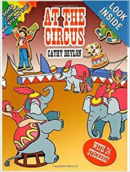 at the circus dover coloring books cathy beylon