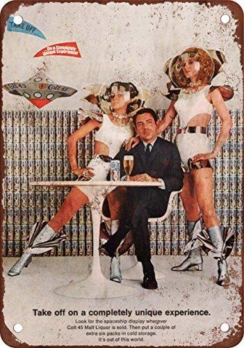 1969-colt-45-malt-liquor-e-spazio-stile-vintage-riproduzione-in-metallo-tin-sign-305-x-457-cm