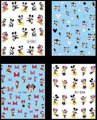 mickey-mouse-minnie-disney-cartoon-nail-art-stickers-water-transfer-decals-decorations-by-none