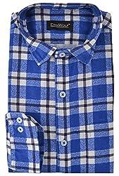 Edinwolf Men's Formal Shirt (EDFR707_38, Blue, 38)