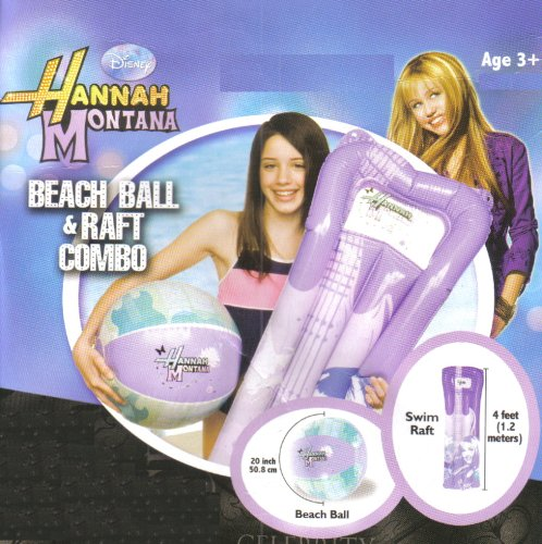 Hannah Montana Beach Ball & Raft Combo by Disney - 1