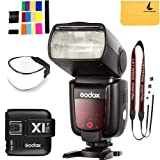 Godox TT685C Thinklite TTL Camera Flash 2.4GHz High Speed 1/8000s GN60 Compatible Canon EOS Cameras E-TTL II Autoflash+Godox X1T-C TTL Wireless Transmitter Compatible Canon EOS Series Cameras