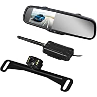 AUTO VOX Wireless Backup Camera Kit with HD Rearview Mirror Monitor (Black)