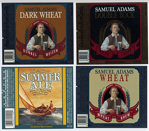 Set of Four Samuel Adams Boston Beer Company Boston Massachusetts 12 Ounce Brewery Bottle Labels (Sam Adams Beer Sign compare prices)