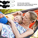 "Best Double Hammock (110"" X 73"") From Swift-n-Snug For Camping, Backpacking, Hiking - Compact, Light-Weight & Heavy Duty - Swing - Strong Nylon Tree Ropes and Quality Carabiners - Lifetime Guarantee"