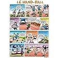 Les Pr�noms en BD - Affiche - Les Sports en BD - Hand-Ball