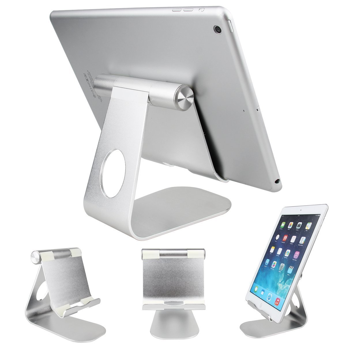 Oenbopo iPad Pro Tablet Holder Stand 360° Rotatable Aluminum Alloy Desktop Holder Tablet Stand for iPad Pro 12.9