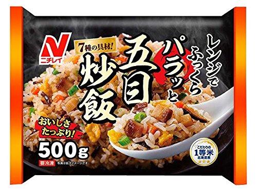 ニチレイ レンジでふっくらパラッと五目炒飯 500g[冷凍]