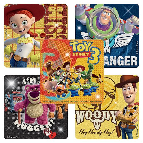 Disney Glitter Toy Story 3 Stickers - Party Favors - 50 per Pack