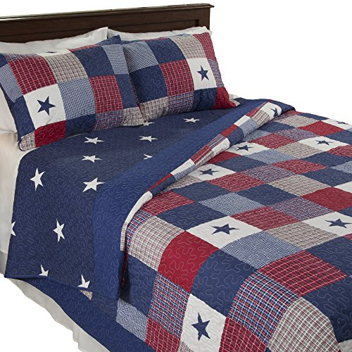 Lavish Home Caroline 2 Piece Quilt Set