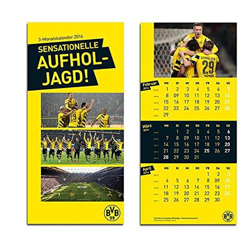 BVB Borussia Dortmund - 3 Monatskalender 2016 - Kalender Wandkalender
