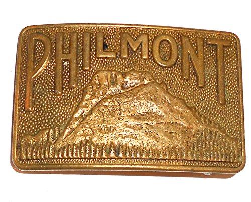 Vintage Brass Philmont Boy Scout Camp Embossed Belt Buckle