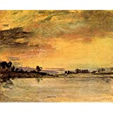The Museum Outlet - Sunrise On The River By Joseph Mallord Turner - Canvas Print Online Buy (24 X 32 Inch)