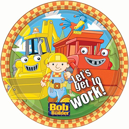 "Bob the Builder 8.75"" Paper Dinner Plates - 1"