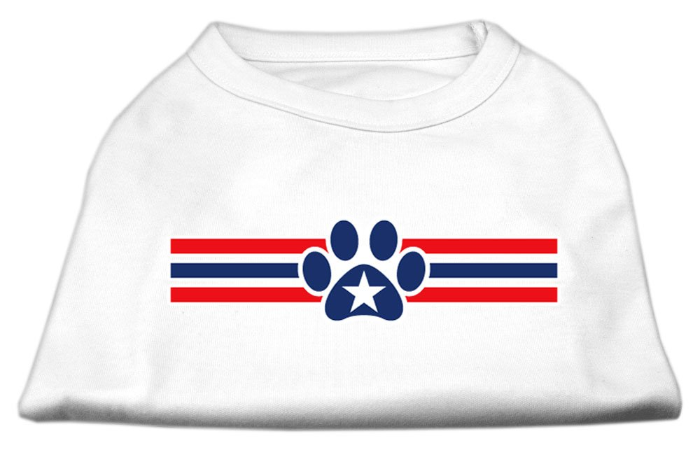 Mirage Pet Products 20-Inch Patriotic Star Paw Screen Print Shirts for Pets, 3X-Large, White gsm розетка мегафон в новосибирске