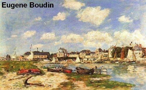 557 Color Paintings of Eugene Boudin (Eugène Boudin) - French Landscape Painter (July 12, 1824 - August 8, 1898)